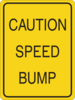 Caution Speed Bump Clip Art