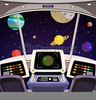 Spaceship Control Panel Clipart Image