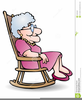 Clipart Grandmother Rocking Chair Image