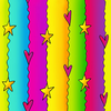 Colorful Lines Rainbow Stars Image