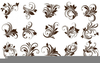 Black And White Ornaments Clipart Image
