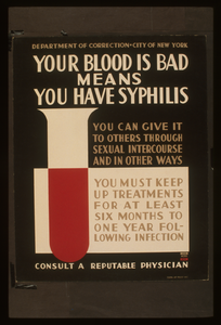 Your Blood Is Bad Means You Have Syphilis You Can Give It To Others Through Sexual Intercourse And In Other Ways : You Must Keep Up Treatments For At Least Six Months To One Year Following Infection : Consult A Reputable Physician. Image