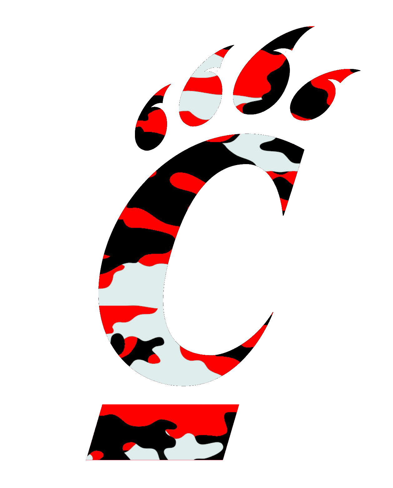 Uc Bearcats Logo Red Camouflage Free Images At Clkercom Vector