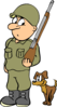 Soldier With Dog Clip Art