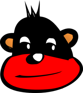 Eliahs Red And Black Monkey Clip Art