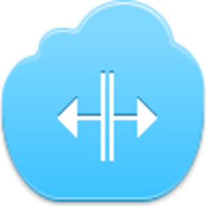 Free Blue Cloud Cursor V Split Image