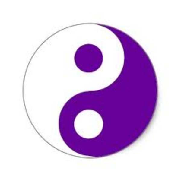 Purple Yin Yang Symbol Free Images At Clker Vector Clip Art