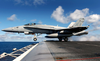 An F/a-18c Hornet Assigned To The Fist Of The Fleet Of Strike Fighter Squadron Two Five (vfa-25) Launches From One Of Four Steam Powered Catapults Aboard Uss John C. Stennis (cvn 74) Image