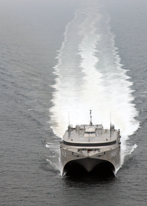 High Speed Vessel Two (hsv 2) Swift Glides Through The Waters Of The Atlantic Ocean. Image