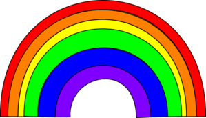 Thicker Rainbow Clip Art