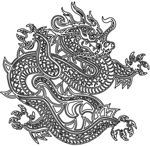 Dragon Outline Image