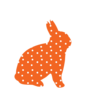 Orange Polka Dotted Bunny Image