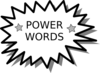 Power Word Card1 Clip Art