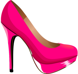 Pink Highheal Shoe Clip Art
