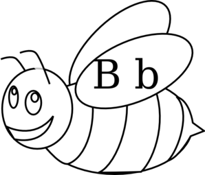 Bumble Bee Outline Clip Art
