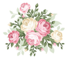 Free Christmas Flower Clipart Image
