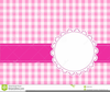 Free Pink Gingham Clipart Image