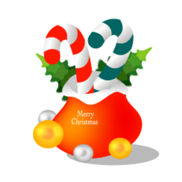 Christmas gift bag icon free images at clker