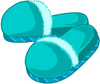 Teal Slippers Image