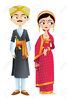 Indian Wedding Reception Clipart Image
