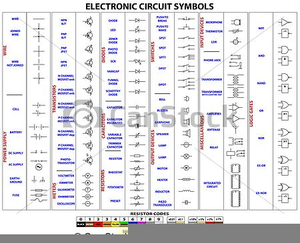 Electronic Circuit Symbols Clipart Image