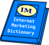 Internet Marketing Dictionary Clip Art