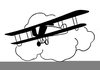 Airplane Clipart Black And White Image