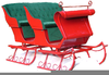 Christmas Sleighs Clipart Image