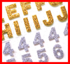 Glitter Sticker Numbers Image