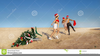 Santa At The Beach Clipart Image