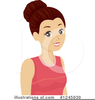 Teenager Girl Clipart Image