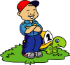 Boy And Turtle Clip Art