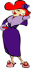 Clipart Of Lady In Red Hat Image