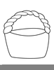 Basket Clipart Black And White Image