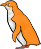 Orange Penguin 2 Clip Art