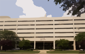 The Main Entrance To Treatment Facilities At The National Naval Medical Center In Bethesda, Md. Clip Art