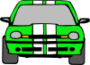Dodge Neon (green) Clip Art