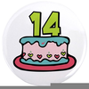 Free Black And White Birthday Cake Clipart Image