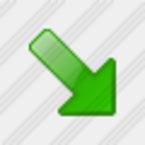 Icon Arrow Right Down Green 1 Image