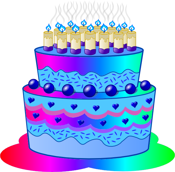 Birthday Cake Clip Art Transparent Background : Birthday Cake D Free Images at Clker.com - vector clip ...