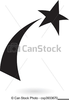 Shooting Star Clipart Black And White Image