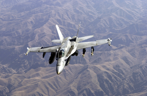 F/a-18 Prepares For Aerial Refueling Operations. Image