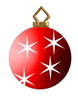 Modern Christmas Trees And Ornaments Clipart Image