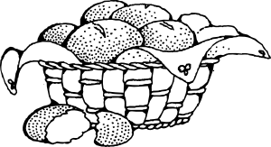 Basket Of Rolls Clip Art
