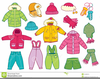 Children Winter Clothes Clipart Image
