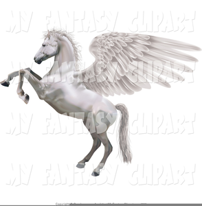 Winged Horse Clipart Image