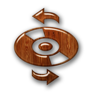 Glossy Waxed Wood Icon Media Cd Refresh Image