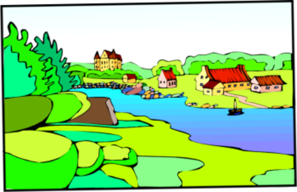 town by lake free images at clker com vector clip art online rh clker com free summer lake clipart