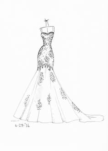 Wedding Dress Clipart.Bridal Gowns Clipart Free Images At Clker Com Vector