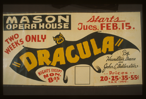 Dracula  By Hamilton Deane And John L. Dalderston [i.e. Balderston] Two Weeks Only. Image